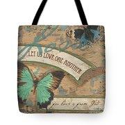 Wings Of Love Tote Bag by Debbie DeWitt