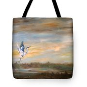 Wings Of The Morning  Tote Bag