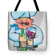 Wining Chef Tote Bag