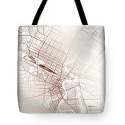 Winnipeg Street Map Colorful Copper Modern Minimalist Tote Bag