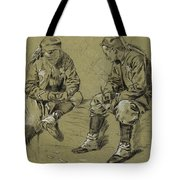 Winslow Homer 1836 - 1910 Study For The Brierwood Pipe Tote Bag