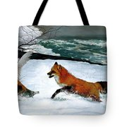 Winslow Homer's, 1893 ' The Fox Hunt ', Revisited 2016 Tote Bag
