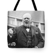 Winston Churchill Campaigning - 1945 Tote Bag