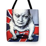 Winston Churchill Holding The Line Tote Bag