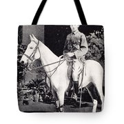 Winston Churchill On Horseback In Bangalore, India In 1897 Tote Bag