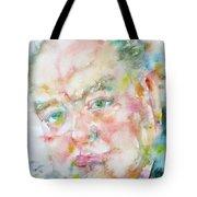 Winston Churchill - Watercolor Portrait.4 Tote Bag
