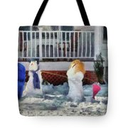 Winter - Christmas - Brother And Sister  Tote Bag