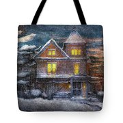 Winter - Clinton Nj - A Victorian Christmas  Tote Bag