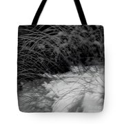 Winter Abstract Black And White Tote Bag