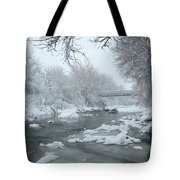Winter Along Clear Creek Tote Bag