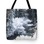Winter Along The Creek Tote Bag
