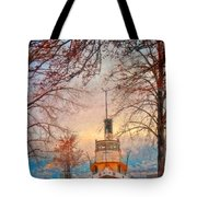 Winter And The Tug Boat Tote Bag