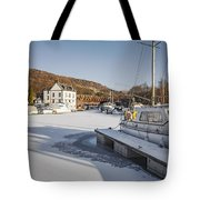 Winter At Bowling Harbour Tote Bag