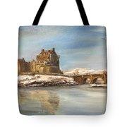 Winter At Eilean Donan Tote Bag