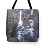Winter At Multnomah Falls Tote Bag