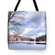 Winter At The Dam Tote Bag