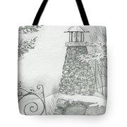 Winter At The Lake Tote Bag