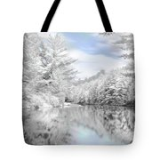 Winter At The Reservoir Tote Bag