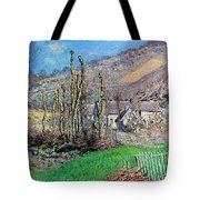 Winter At The Val De Falaise Tote Bag