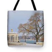 Winter At The Waterworks Tote Bag
