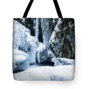 Winter At Virgin Creek Falls Tote Bag