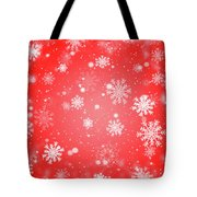 Winter Background With Snowflakes. Tote Bag