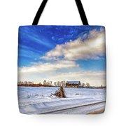 Winter Barn 3 - Paint Tote Bag