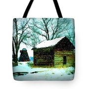 Winter Barn And Silo Tote Bag