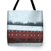 Winter Barn In Oil Tote Bag