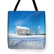 Winter Barn Tote Bag by Joyce Kimble Smith