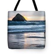 Winter Beach Stroll Tote Bag