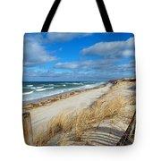 Winter Beach View Tote Bag