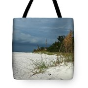Winter Beauty At The Beachside Tote Bag