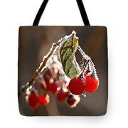 Winter Berries Tote Bag