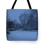 Winter Blue Britain Tote Bag