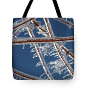 Winter Blue Tote Bag