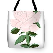 Winter Blush Rose Tote Bag