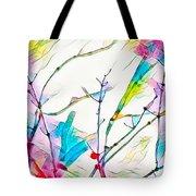 Winter Branch Colors Tote Bag