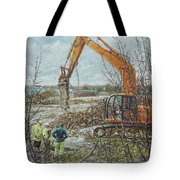 Winter Building Site Breaker Tote Bag