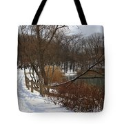 Winter By The Lake Tote Bag