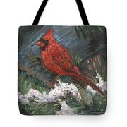 Winter Cardinal Tote Bag