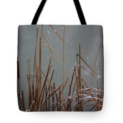 Winter Cat Tail Tote Bag