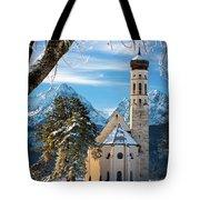 Winter Church In Bavaria Tote Bag