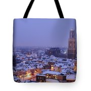 Winter Cityscape Of Utrecht In The Evening 14 Tote Bag