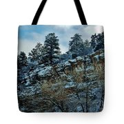 Winter Cliff Tote Bag