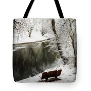 Winter Contemplation Watercolor Painting Tote Bag