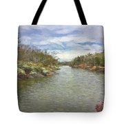 Winter Day On The Canal Tote Bag