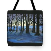 Winter Day's End Tote Bag