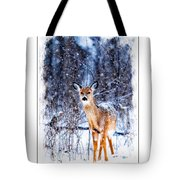 Winter Deer 1 Tote Bag