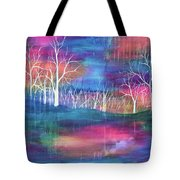 Winter Embraces Spring Tote Bag